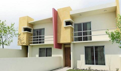 Fachadas e impermeabilizaciones for Fachadas de casas minimalistas con balcon
